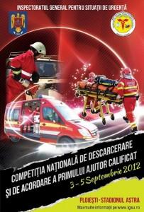 Competitia Nationala de Descarcerare si de Acordare a Primului Ajutor Calificat 3-5.09.2012