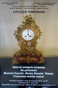 """""""Valori de orologerie europeană"""", la Muzeul """"Nicolae Iorga"""", din Vălenii de Munte"""