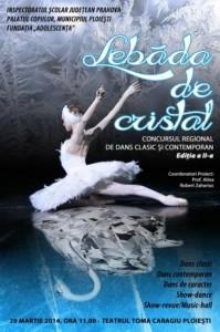 """Concursul Regional de Dans Clasic şi Contemporan """"Lebăda de cristal"""", ediţia aII-a"""