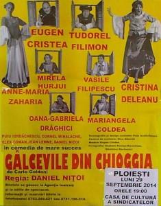 """Comedia """"Gâlcevile din Chioggia"""", de Carlo Goldoni, în regia lui Daniel Niţoi, pe scena Casei de Cultură a Sindicatelor"""