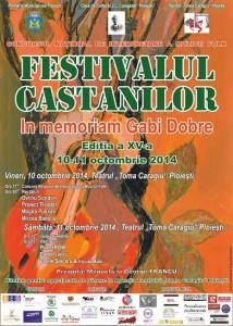 """Programul Concursului Naţional de Interpretare a Muzicii Folk """"Festivalul Castanilor – In memoriam Gabi Dobre"""""""