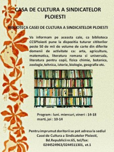 Trecut şi prezent, la biblioteca Casei de Cultură a Sindicatelor