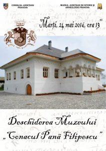 """Deschiderea Muzeului """"Conacul Pană Filipescu"""""""