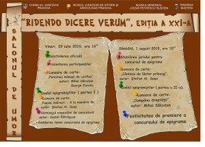 """Salonul de Umor """"RIDENDO DICERE VERUM"""", ediția a XXI-a"""
