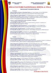 Ziua Culturii Naționale, sărbătorită la  toate secțiile Muzeului Județean de Istorie și Arheologie Prahova
