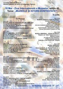 Ziua Internațională a Muzeelor – ediția a 40-a