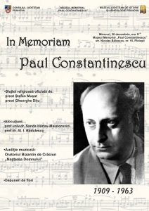 "Medalion Comemorativ ""Paul Constantinescu"""