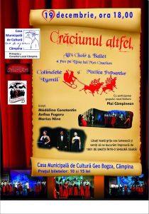 """INVITAȚIE: """"Crăciunul altfel"""" și 1001 de emoții, într-o singură seară, la Câmpina, pe 19 decembrie!"""