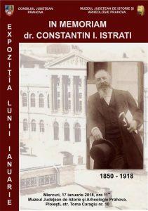 """In memoriam dr. Constantin I. Istrati"", expoziția lunii la Muzeul Județean de Istorie și Arheologie Prahova"